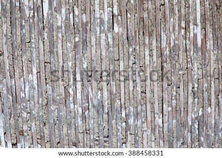 old wicker wall of the rice store