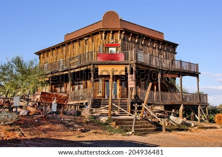 Old Wild West building in a ghost town in Arizona          - stock photo
