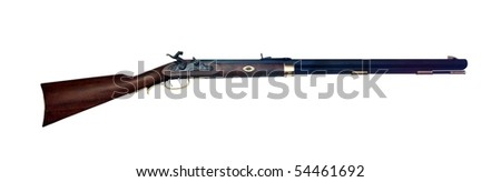 old winchester on white background - stock photo