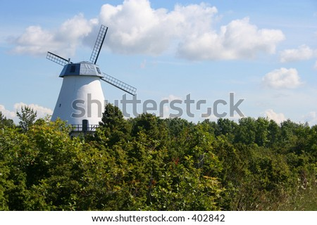 Old windmill in Estonia.