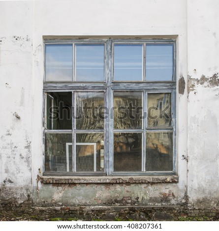 Old window. Industrial Vintage background. - stock photo