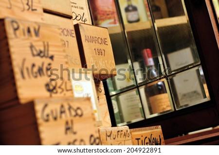 Old Wine Bottle - stock photo