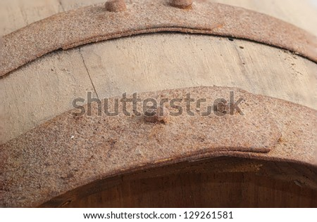 Old wine cask - stock photo