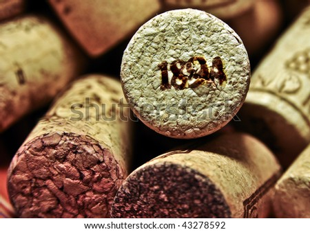 Old wine cork - stock photo