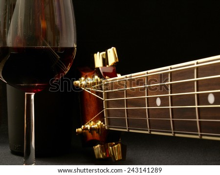 Old wine it as classical music which is better to become only over time    - stock photo