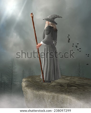 Old wizard - stock photo