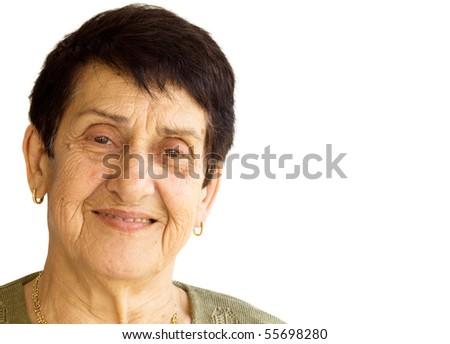 Old Woman Portrait - stock photo