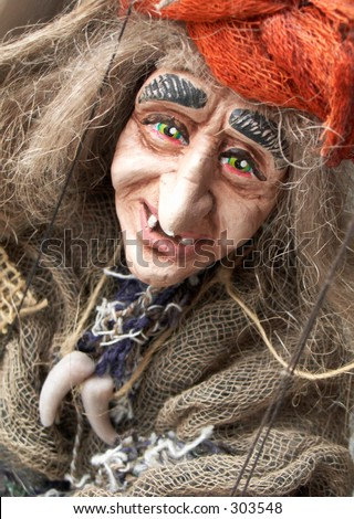 Old women doll - stock photo
