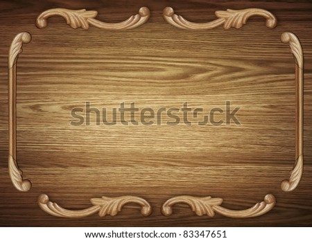 Old wood background with pattern