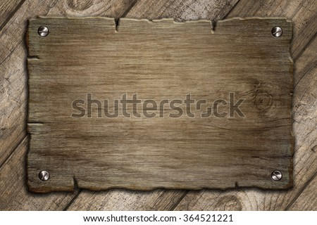old wood board template