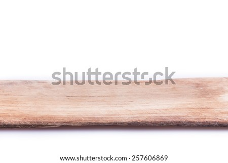 old wood board weathered isolated on white background - stock photo
