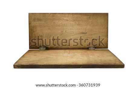 Old wood board. Wooden board. Two panel wood board. Blank wooden board. Wooden surface. Old wood panel. Hardwood board. Wooden plank. Vintage wooden plank. Wood timber. Wooden wall. Wooden frame. Wood - stock photo