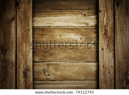 old wood boards, vintage background - stock photo