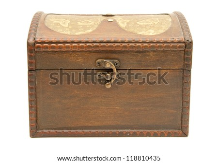 Old wood box
