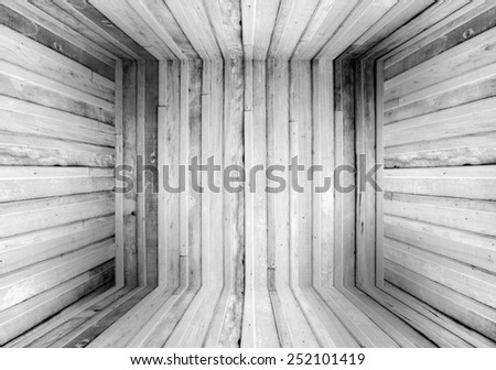 Old Wood Box Texture Background Resemble room - stock photo