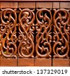 old Wood carving. thailand style - stock photo