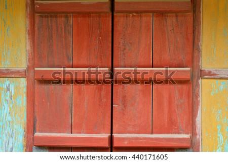 Old wood door  - stock photo