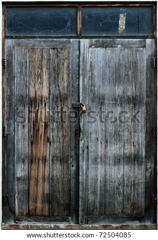 Old wood door - stock photo