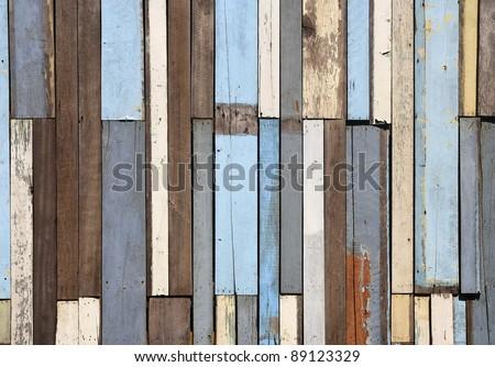 Old wood fence background - stock photo