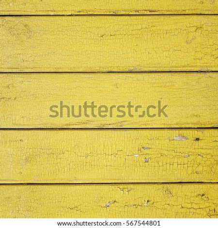 Old Wood Fence Structure Paint Yellow Stock Photo (Royalty Free ...
