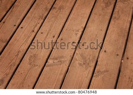 Old wood floor. - stock photo