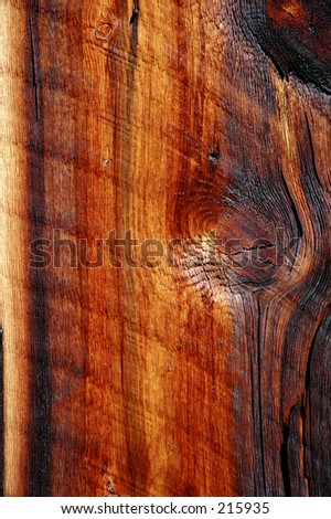 Old wood from cabin built early 1900s Montana - stock photo