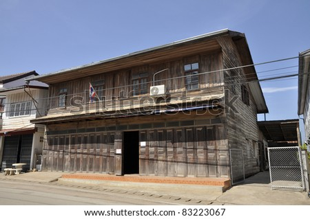Old Wood House Thailand Day - stock photo