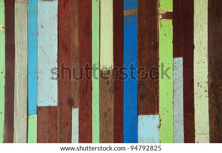 Old wood painted background - stock photo