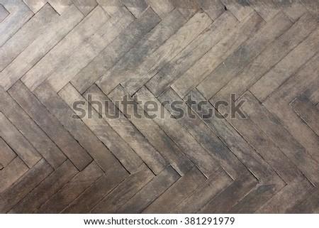Old Wood Parquet texture. Wood texture background. Grunge textured wood  - stock photo