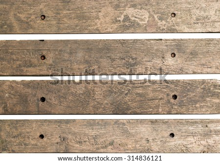 Old wood piece signpost isolated on white background - stock photo