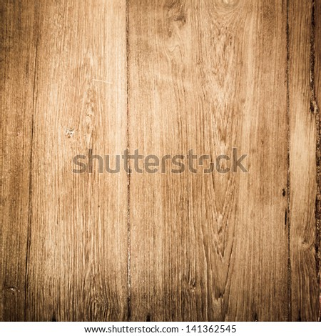 old wood plank brown texture background - stock photo