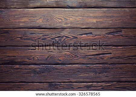Old wood plank wall texture background - stock photo