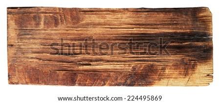 old wood planks textures isolated on white,horizontal - stock photo