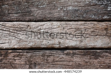 Old wood railway sleepers abstract architecture construction decor vintage wood old surface wood texture natural background design  - stock photo