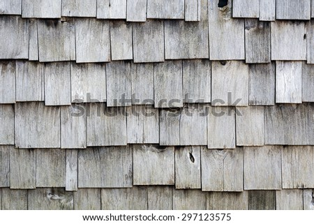 Old Wood Shingle Siding