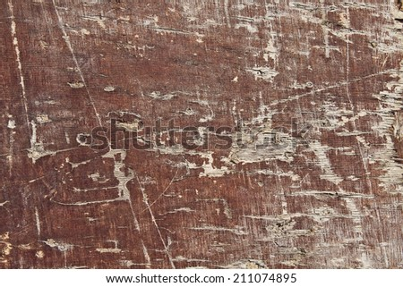 old wood texture for background. Oak desk. the brown wood texture with natural patterns.natural cracks and scratches - stock photo