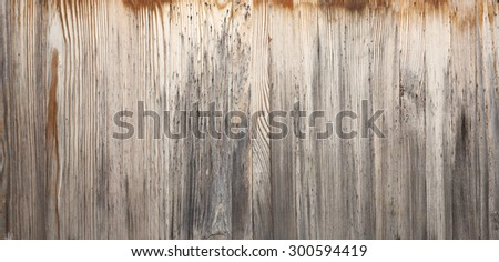 Old wood texture, horizontal background  - stock photo