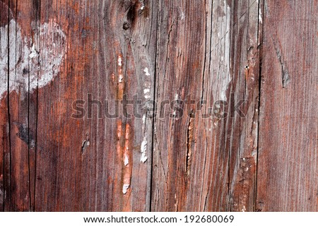 Old wood texture with traces of abrasions, aging, scratches and paint - stock photo