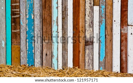 Old wood to a wall background texture - stock photo
