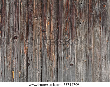 Old wood wall background, retro grain plank wooden texture pattern - stock photo
