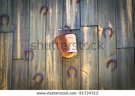 old wood wall, western texture - stock photo