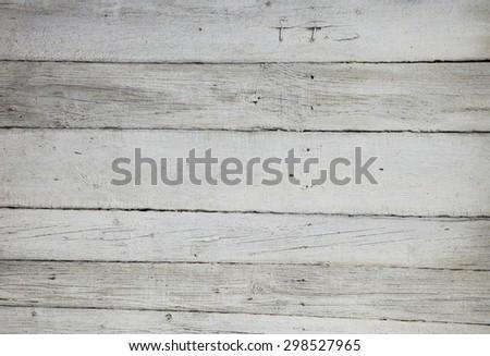 Old Wood white planks Background - stock photo