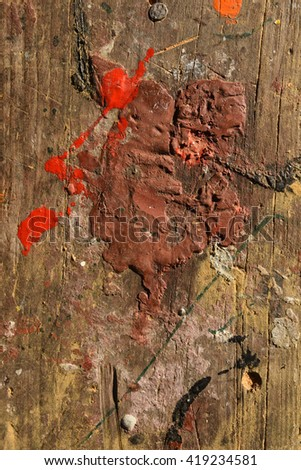 Old wood with paint,