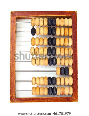 Old Wooden Abacus Studio Photo
