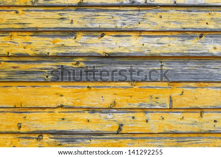 old wooden background with horizontal boards - stock photo