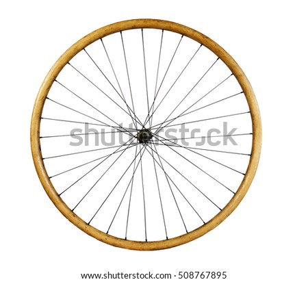 Old wooden Bicycle Wheel