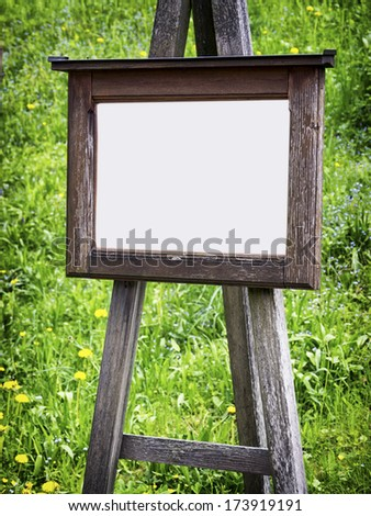 old wooden black board with space for text