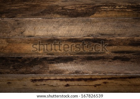 Old wooden board background - stock photo