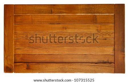 Old wooden board isolated on white background. - stock photo