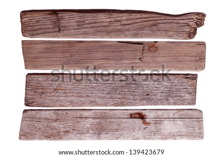 old wooden boards - stock photo